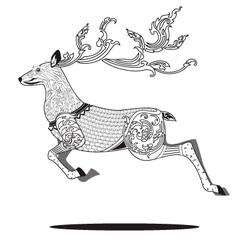 deer line art 2 vector image