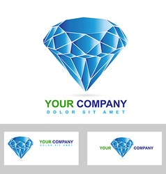 Diamond or jewelry business logo vector