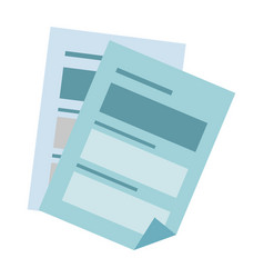 document pages icon vector image
