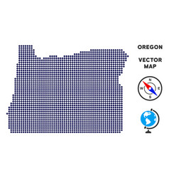 Dot oregon state map vector