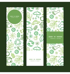 Ecology symbols vertical banners set pattern vector