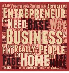 Entrepreneur home based business 1 text background vector