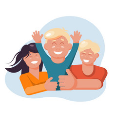 family concept european mother and father hol vector image