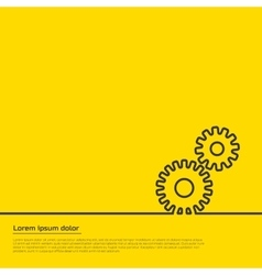Gears infographic template For web vector