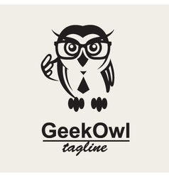 Geek owl logo vector