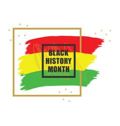 golden and black history month colorful emblem vector image
