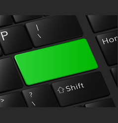 green button on keyboard macro vector image