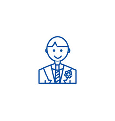 groom line icon concept groom flat symbol vector image