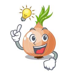 Have an idea cartoon ripe onion in the kitchen vector