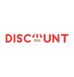 icon concept of discount word with store awning vector image