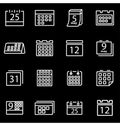 line calendar icon set vector image