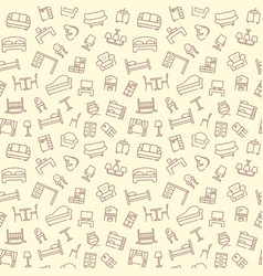 line furniture background vector image