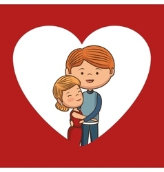 Lovely couple valentines day vector