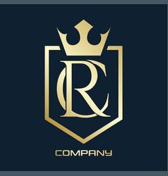 luxury rc logo vector image