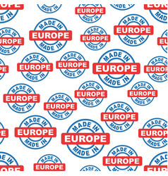 made in europe seamless pattern background icon vector image