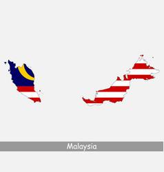 malaysia map flag vector image