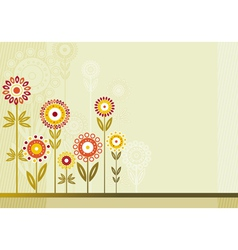 Many colour flowers vector