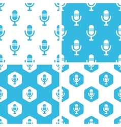 Microphone patterns set vector