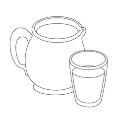 milk pitcher icon vector image