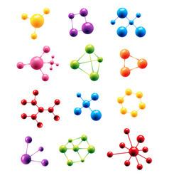 molecule structure model sign molecules vector image