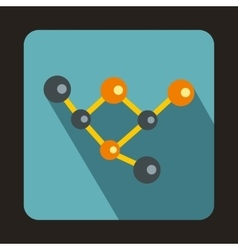 Molecules icon flat style vector image