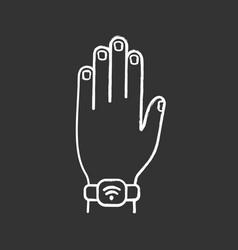 Nfc bracelet chalk icon vector