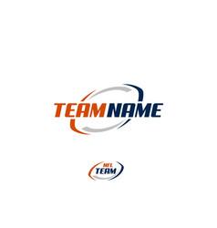 Nfl ball american football team logo vector