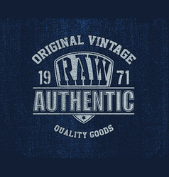 Original vintage denim print for t-shirt vector