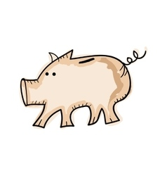 Piggy money box vector