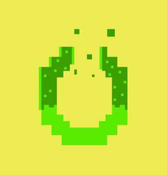 Pixel icon in flat style pretzel vector