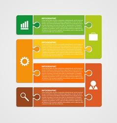 Puzzle piece infographics business concept vector