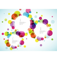 Random colorful bubbles with plance for your text vector image