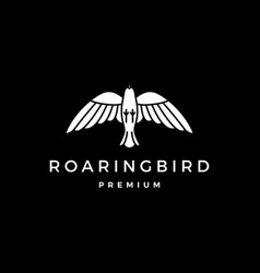 roaring bird logo icon vector image