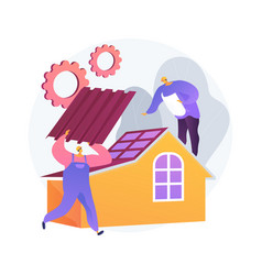 roofing services abstract concept vector image
