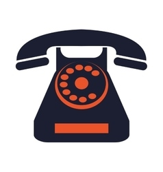 rotary telephone icon vector image