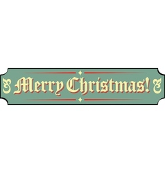 Santa Workshop Banner Signs vector image
