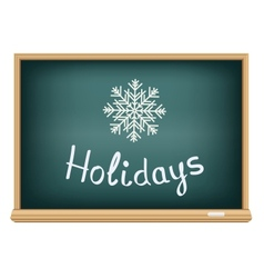 School board holidays vector