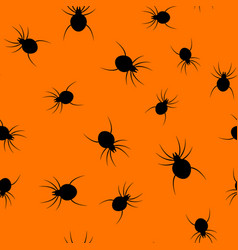 seamless halloween spider paper art pattern vector image