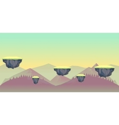 Seamless nature landscape for game vector