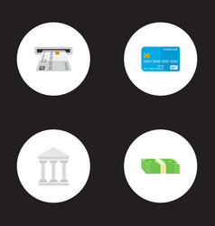 set of banking icons flat style symbols with vector image
