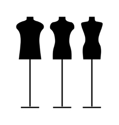 Sewing mannequin vector