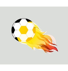 soccer ball on white background eps10 vector image
