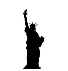 statue of liberty new york usa simple black vector image