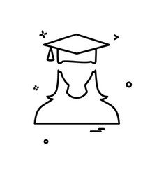 student icon design vector image