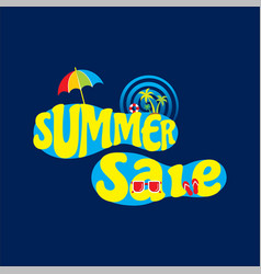 summer sale banner design vector image