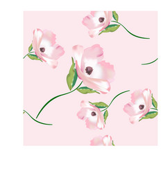 sweet pink flower seamless pattern vector image