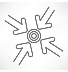 Target with arrows vector image