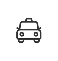 taxi car front view outline style icon vector image