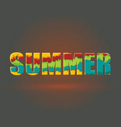 the word summer from ripped paper layers vector image