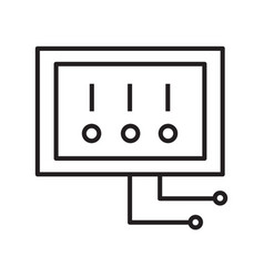 Thin line electric switch icon vector